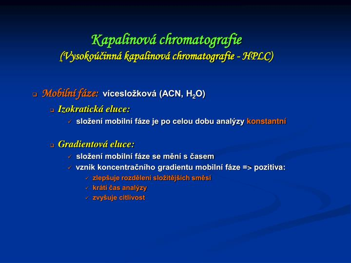 Kapalinová chromatografie
