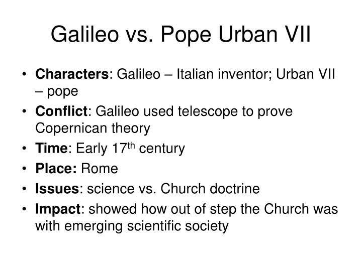 Galileo vs. Pope Urban VII