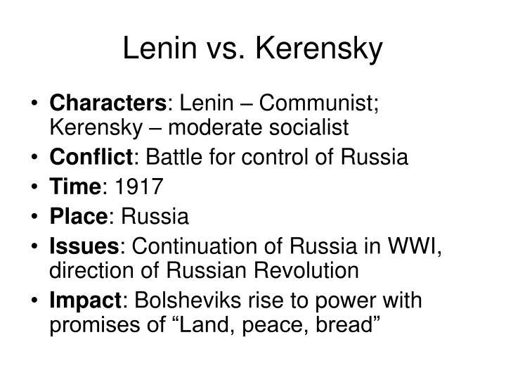 Lenin vs. Kerensky