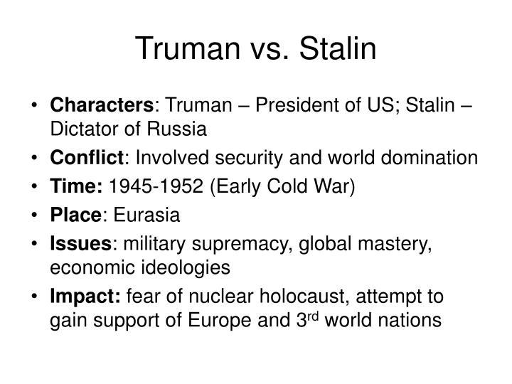 Truman vs. Stalin