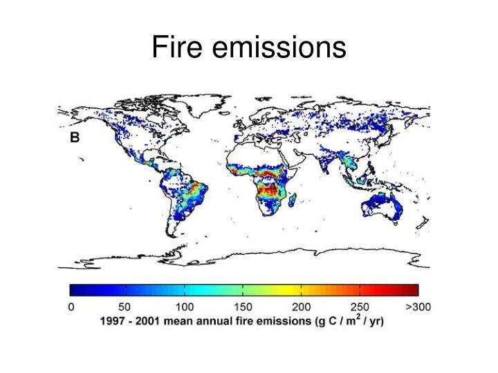 Fire emissions