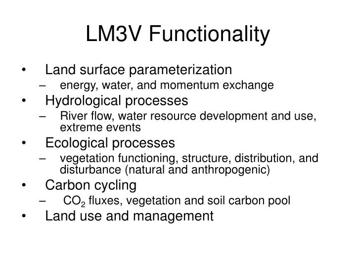 LM3V Functionality