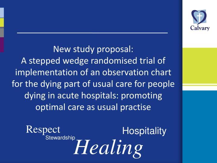 New study proposal: