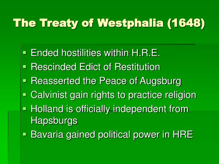 The Treaty of Westphalia (1648)