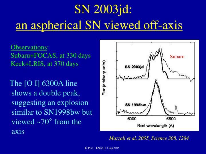 SN 2003jd: