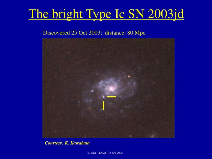 The bright Type Ic SN 2003jd