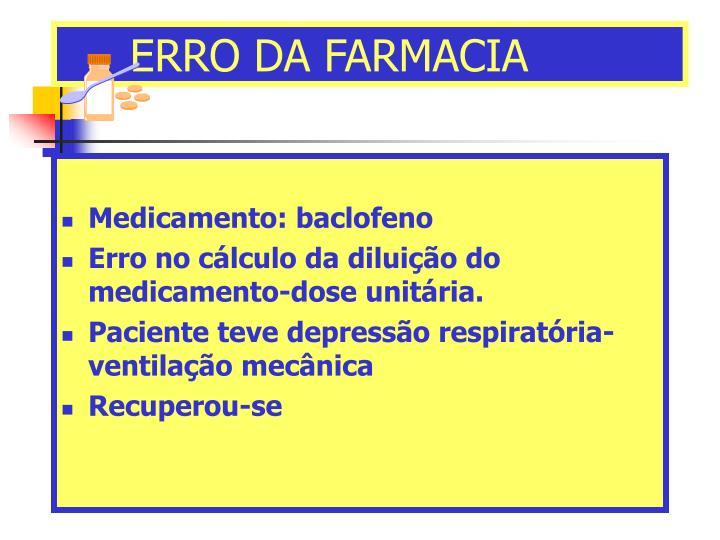 ERRO DA FARMACIA