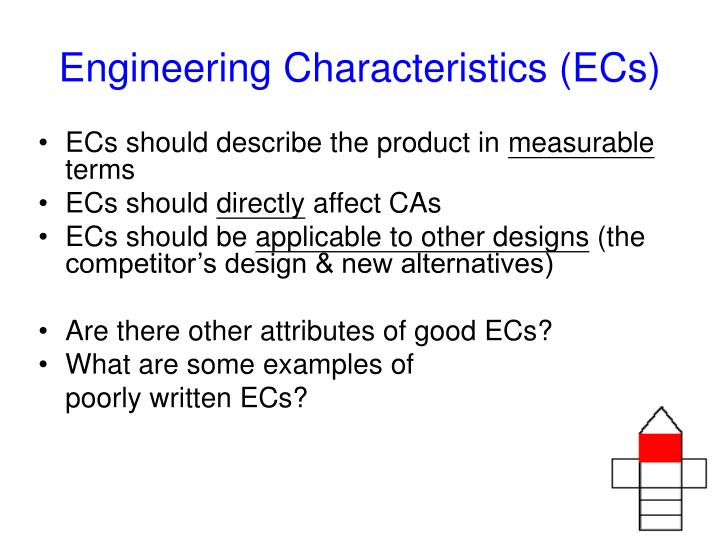 Engineering Characteristics (ECs)