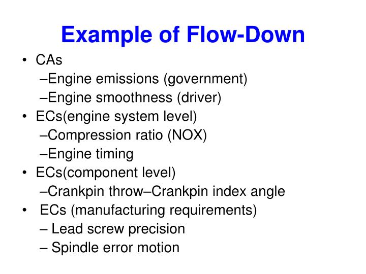 Example of Flow-Down
