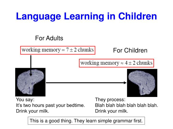 Language Learning in Children