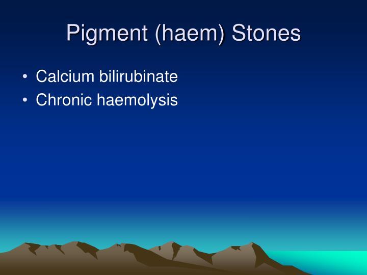Pigment (haem) Stones