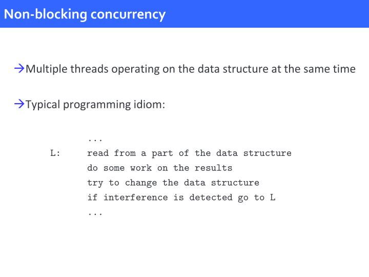 Non-blocking concurrency