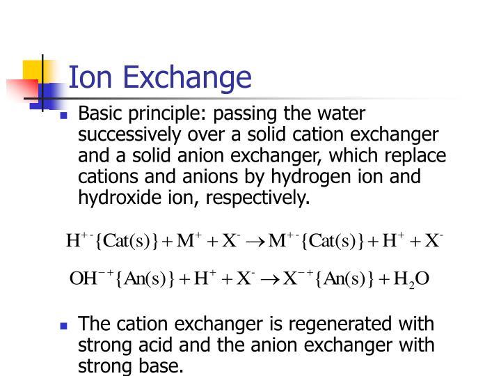 Ion Exchange