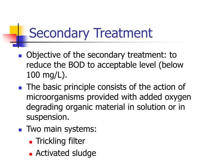 Secondary Treatment