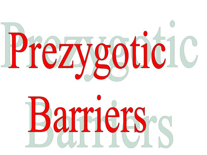 Prezygotic