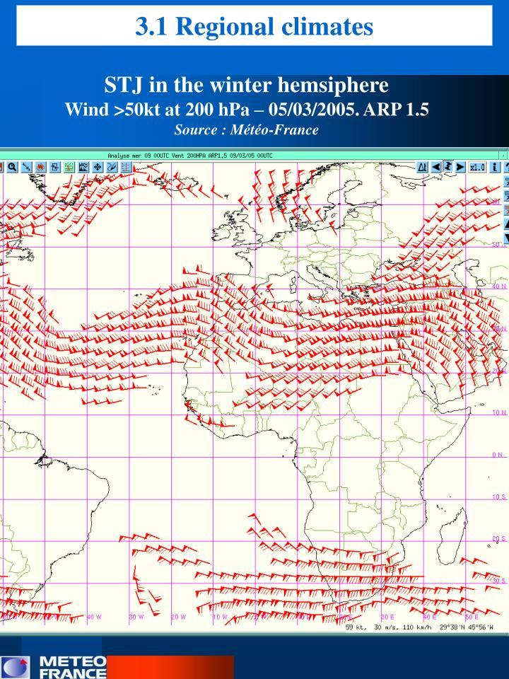 3.1 Regional climates