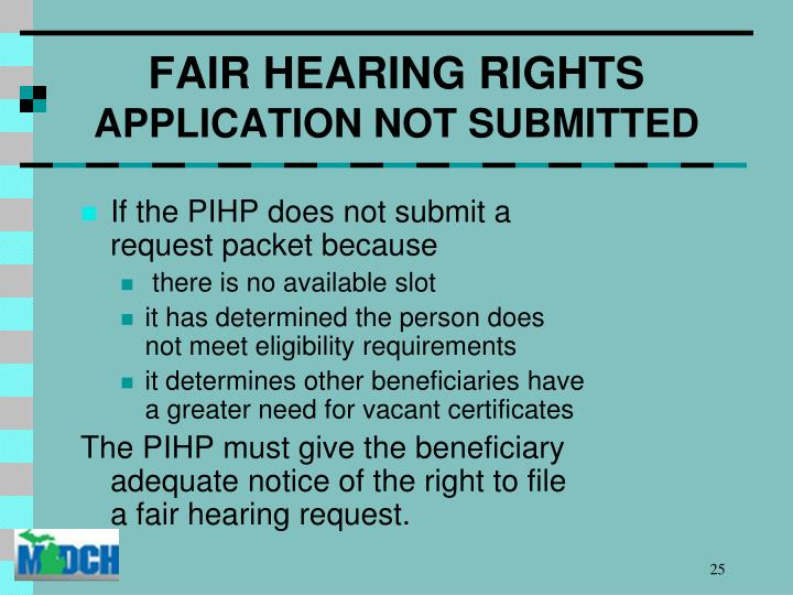 FAIR HEARING RIGHTS