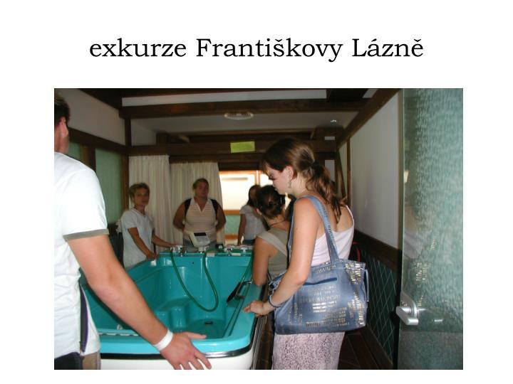 exkurze Františkovy Lázně