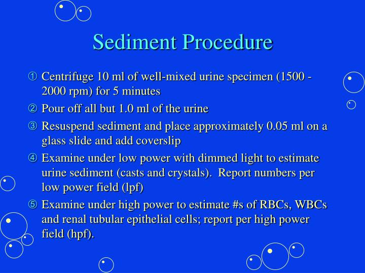Sediment Procedure
