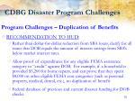 cdbg disaster program challenges13