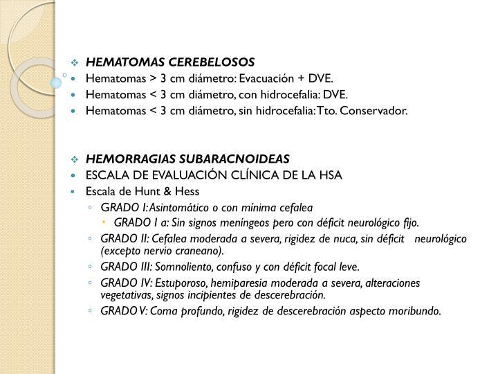 HEMATOMAS CEREBELOSOS