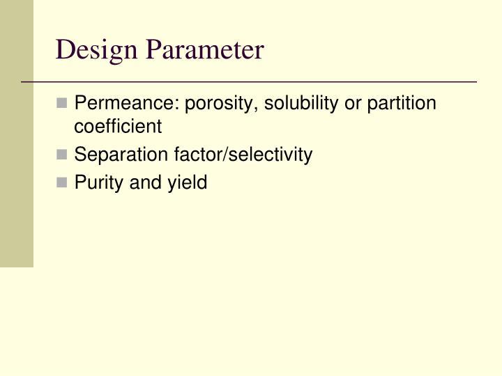 Design Parameter