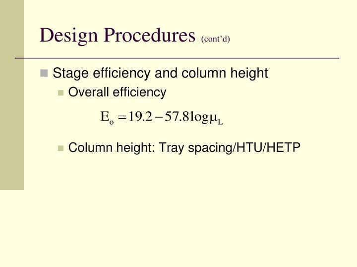 Design Procedures