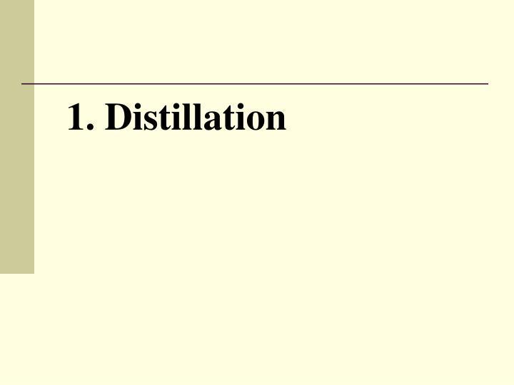 1. Distillation