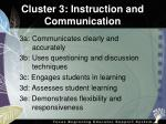 cluster 3 instruction and communication