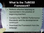 what is the txbess framework