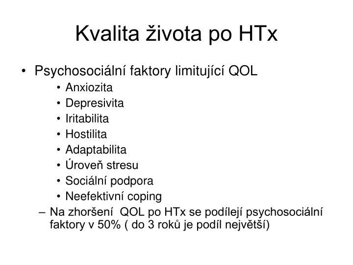 Kvalita života po HTx