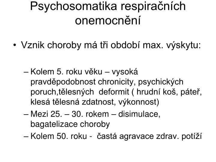 Psychosomatika respiračních onemocnění
