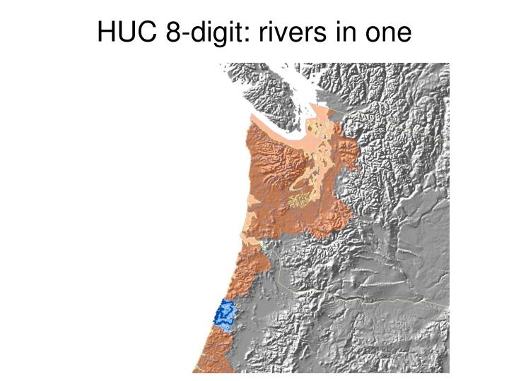 HUC 8-digit: rivers in one