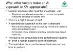 what other factors make an ai approach to km appropriate