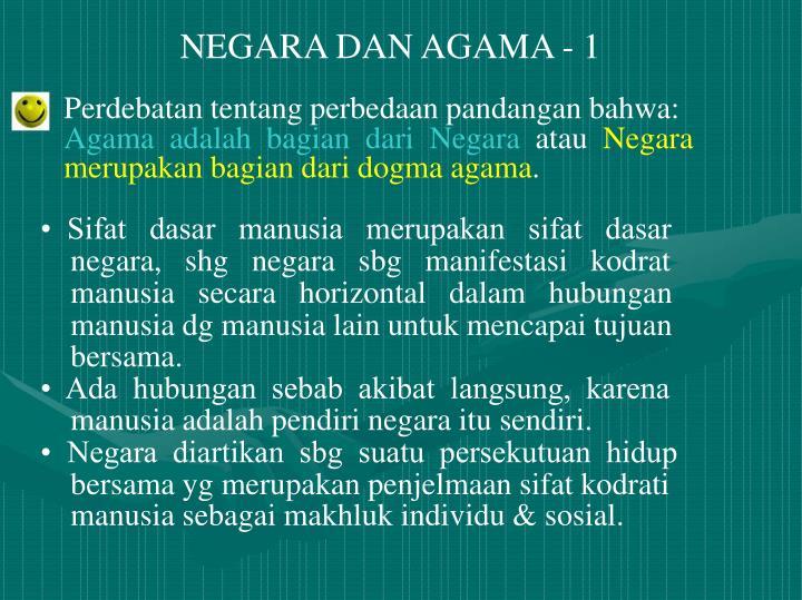 NEGARA DAN AGAMA - 1