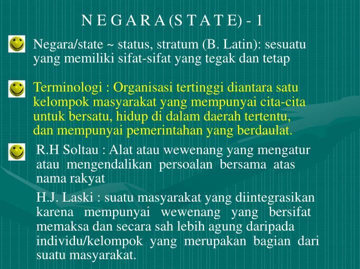 N E G A R A (S T A T E) - 1