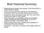 brief historical summary