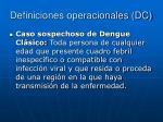 definiciones operacionales dc