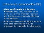 definiciones operacionales dc2
