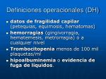 definiciones operacionales dh1