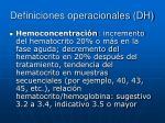 definiciones operacionales dh2