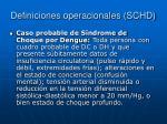 definiciones operacionales schd