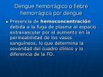 dengue hemorr gico o fiebre hemorr gica por dengue