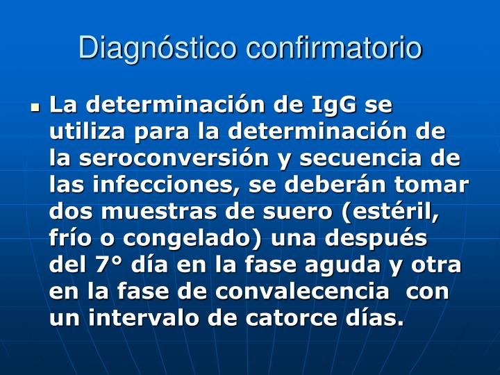 Diagnóstico confirmatorio
