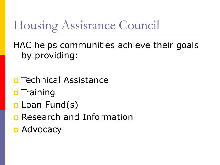 Housing assistance council