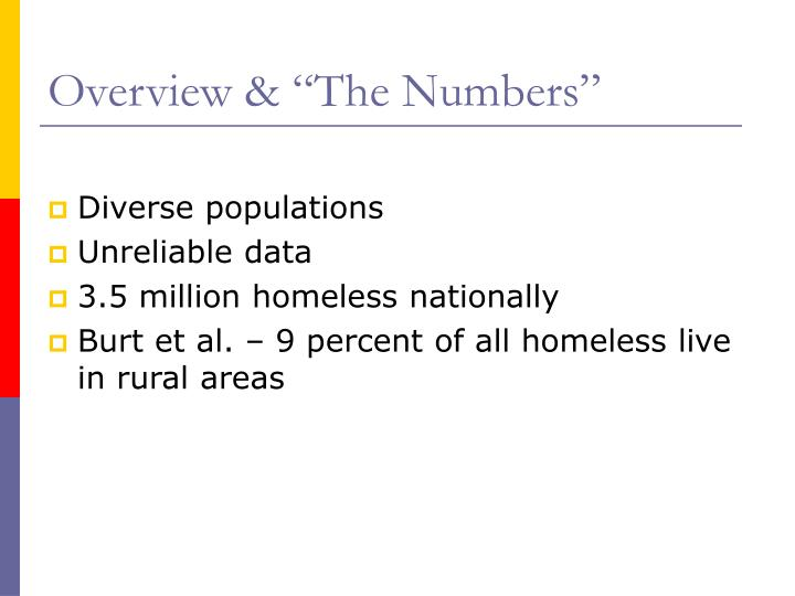 """Overview & """"The Numbers"""""""