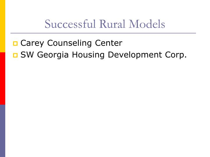 Successful Rural Models