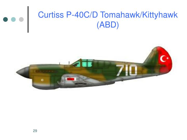 Curtiss P-40C/D Tomahawk/Kittyhawk