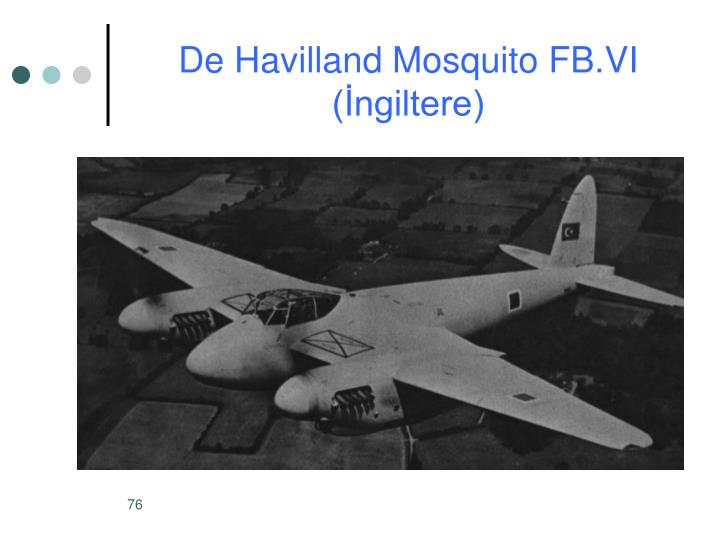 De Havilland Mosquito FB.VI (İngiltere)