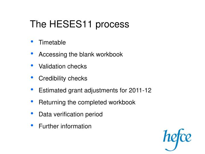 The heses11 process1